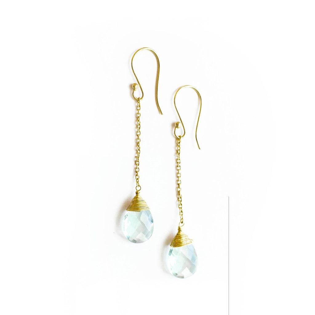 Delicate Quartz Drop Earrings - fairtribe