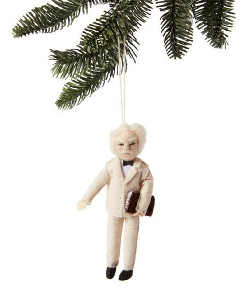 Mark Twain Christmas Tree Ornament
