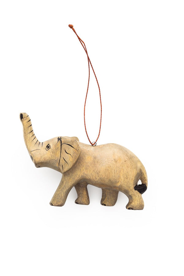 Hand-carved Elephant Ornament - fairtribe