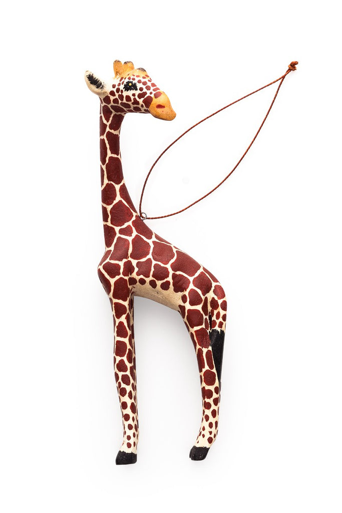 Hand-carved Giraffe Ornament - fairtribe