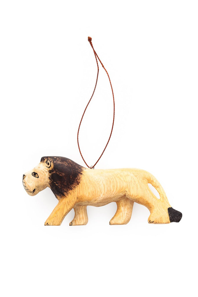 Hand-carved Lion Ornament - fairtribe