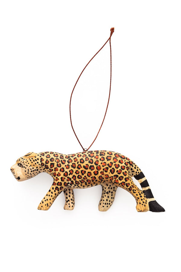 Hand-carved Cheetah Ornament - fairtribe