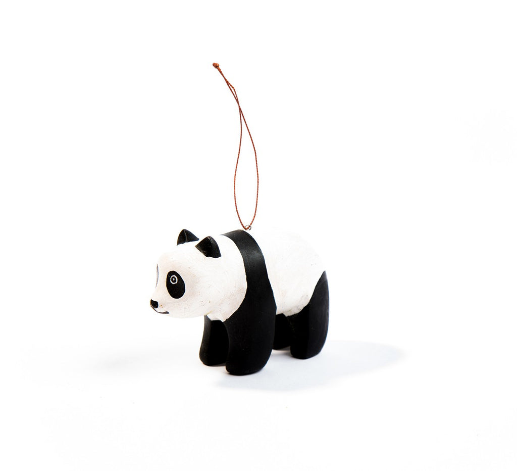 Hand-carved Panda Ornament - fairtribe