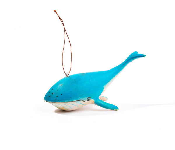 Hand-carved Whale Ornament - fairtribe