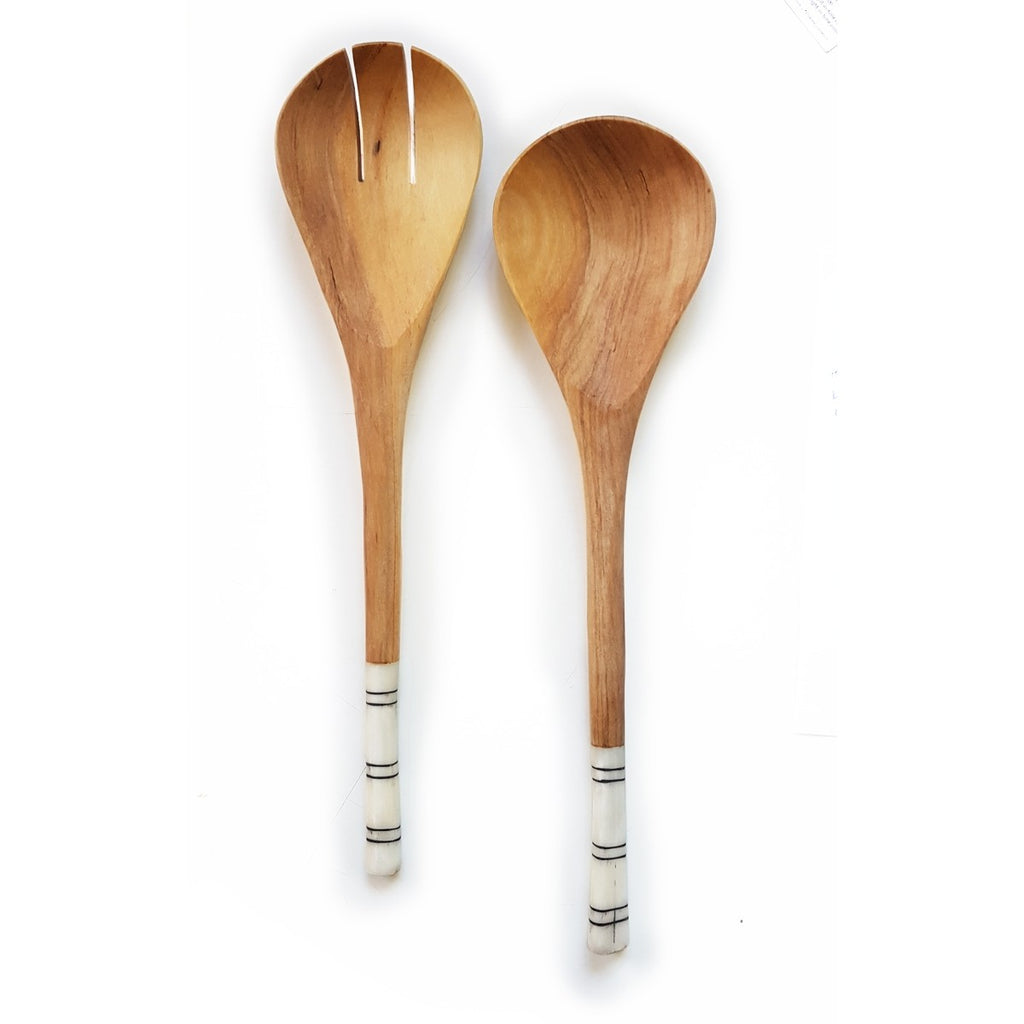 Striped Salad Servers - fairtribe