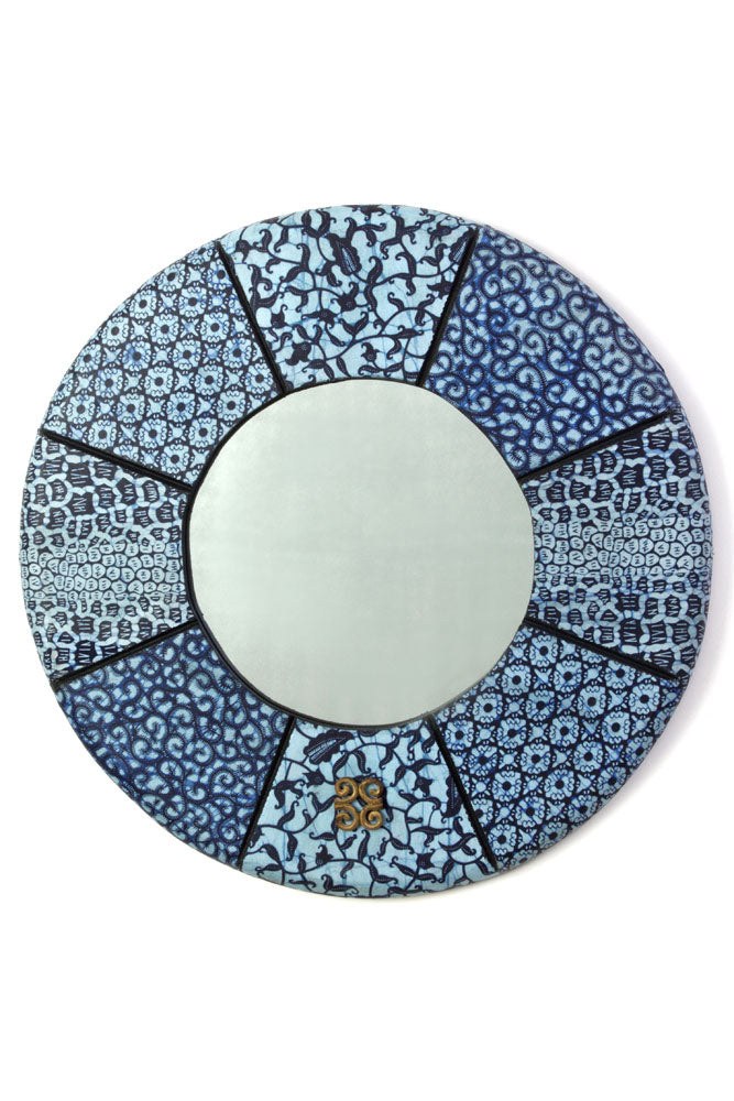 "24"" Round Bibire Wax Cloth Mirror - fairtribe"