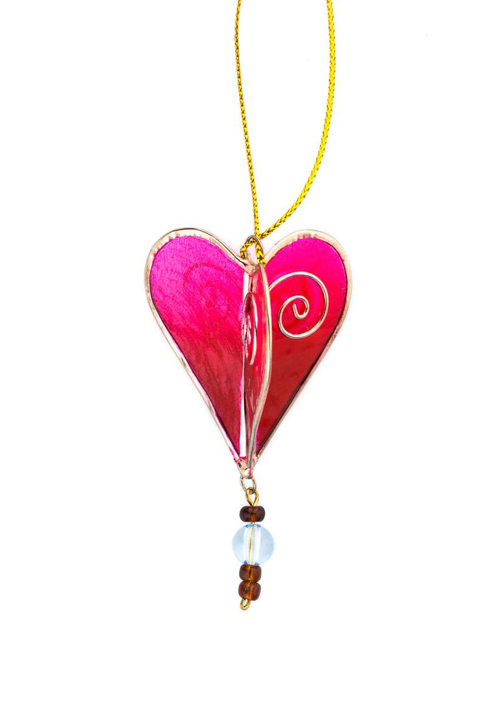 Capiz Shell Heart Ornament - fairtribe