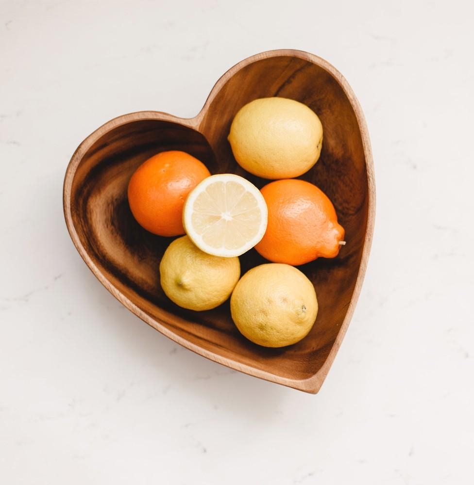 Acacia Wood Heart Bowls - fairtribe
