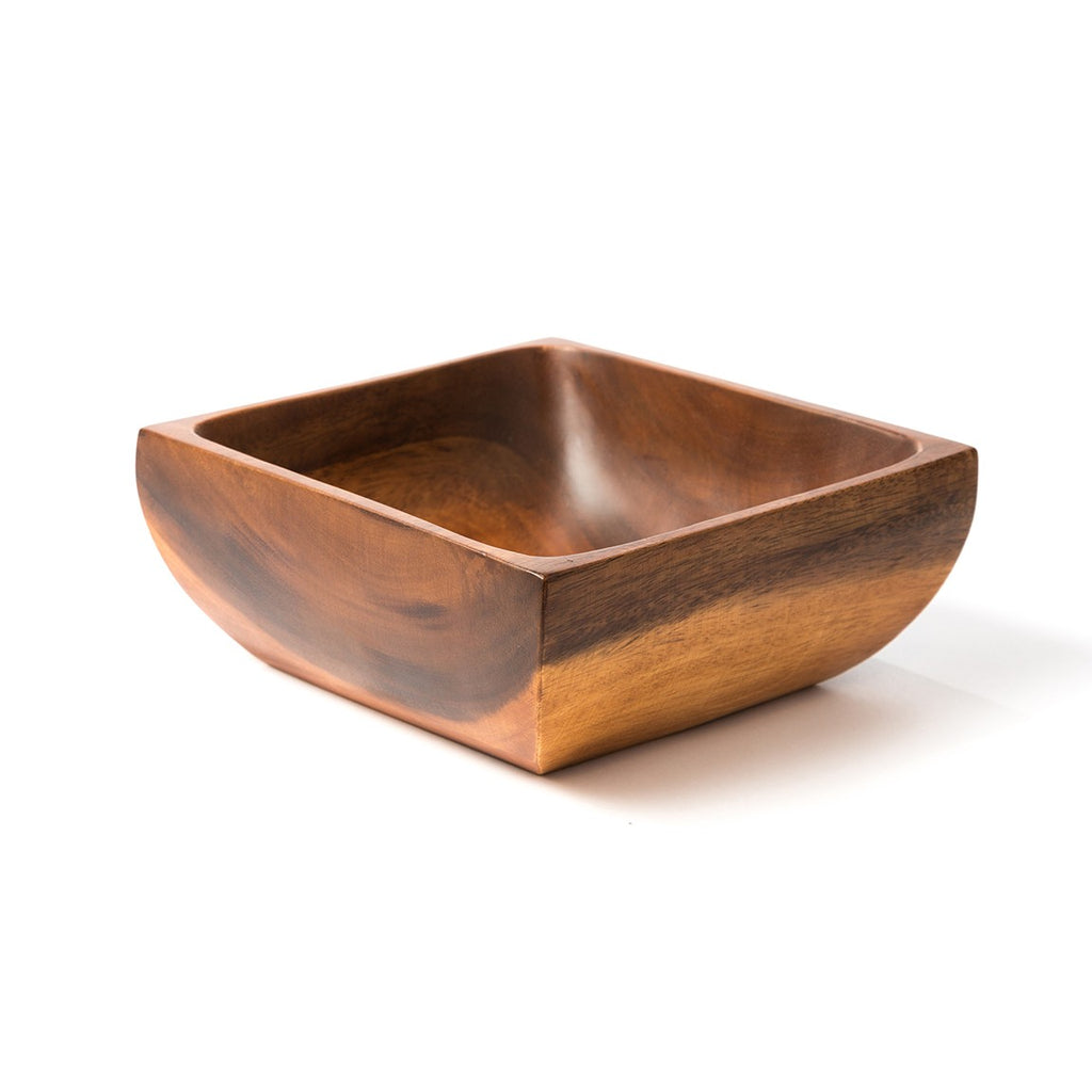 "8"" Acacia Wood Square Bowl - fairtribe"