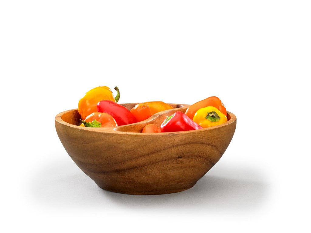 Acacia Wood Divided Bowl - fairtribe