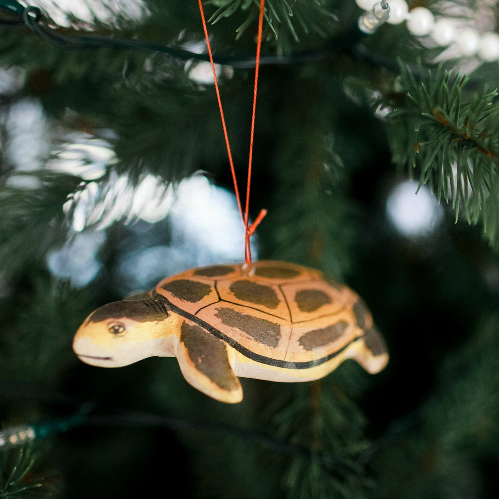 Hand-carved Sea Turtle Ornament