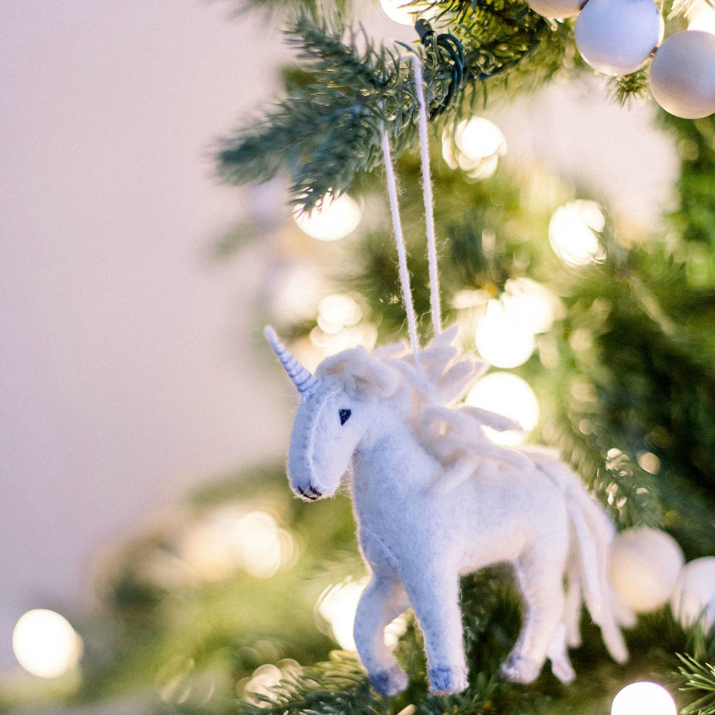 Unicorn Felt Ornament - fairtribe