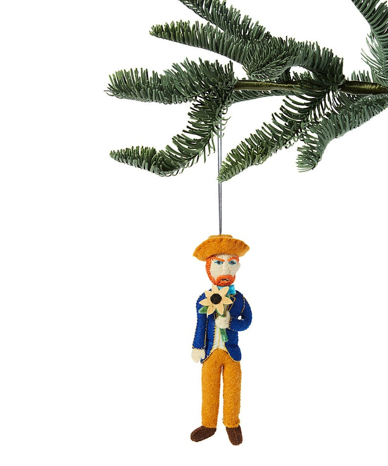 Vincent Van Gogh Fair Trade Felt Tree Ornament - fairtribe