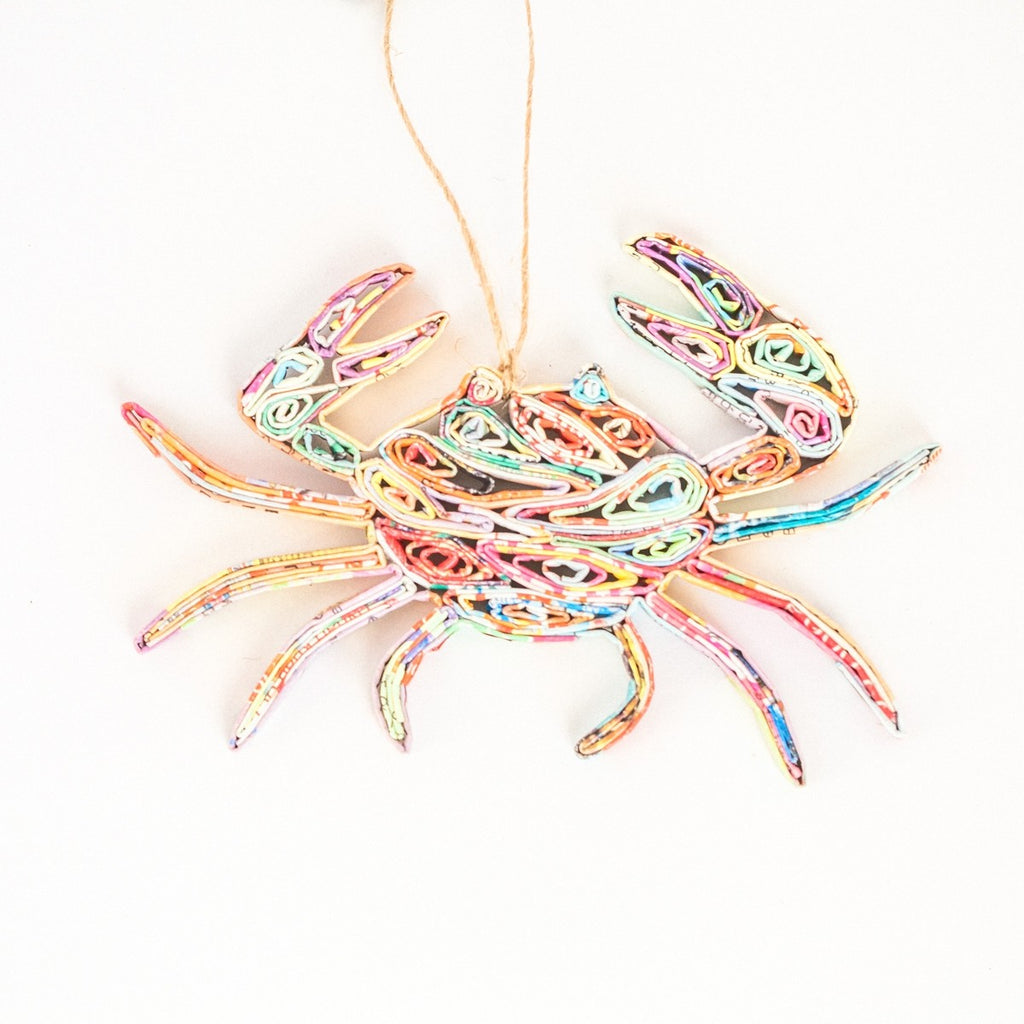 Recycled Paper Crab Ornament - fairtribe
