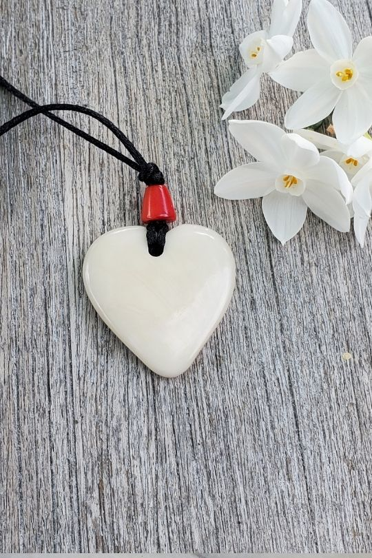 Tagua Nut Natural Heart Pendant