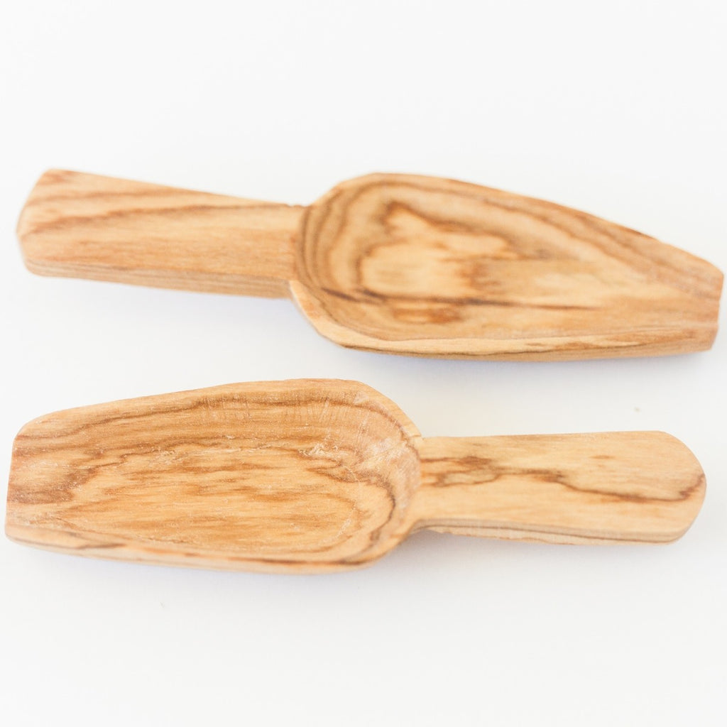 Olive Wood Mini Scoops - Set of 2