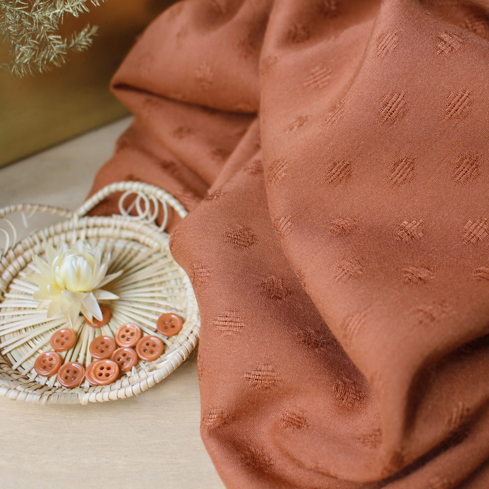 Atelier Brunette - Diamond Chestnut Fabric - Craftyangel