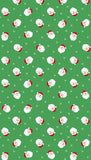Santa Heads - Novelty Xmas - Green