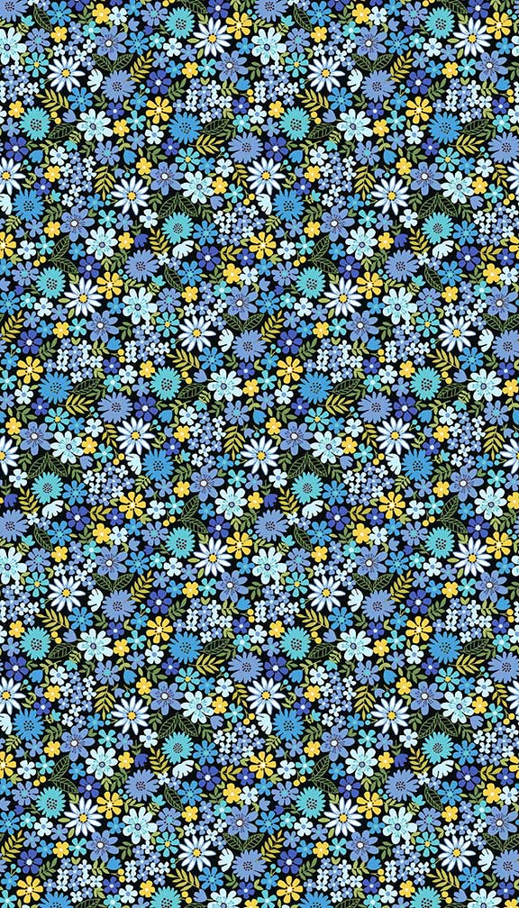 Bloom - Ditzy Floral - Blue multi - Craftyangel
