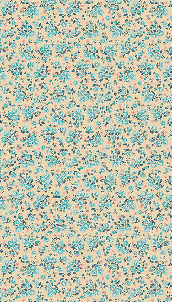Stitch in Time - Ditzy Flora - Cream - Craftyangel