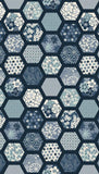 Indigo Hexagons - Blue