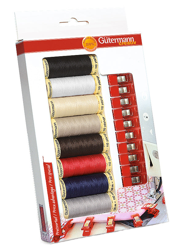 Sew All Gutermann Bonus Thread Pack - includes wonderclips - Craftyangel