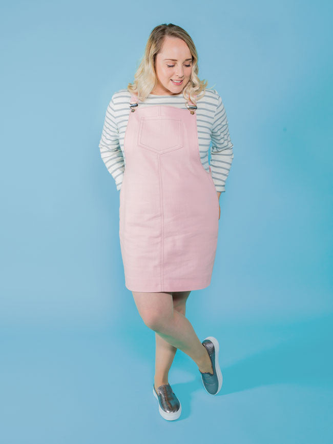 Tilly And The Buttons - Cleo Dungaree Dress - Craftyangel