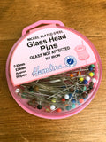 Glass Head Pins - Pack of 95 (approx) - Craftyangel