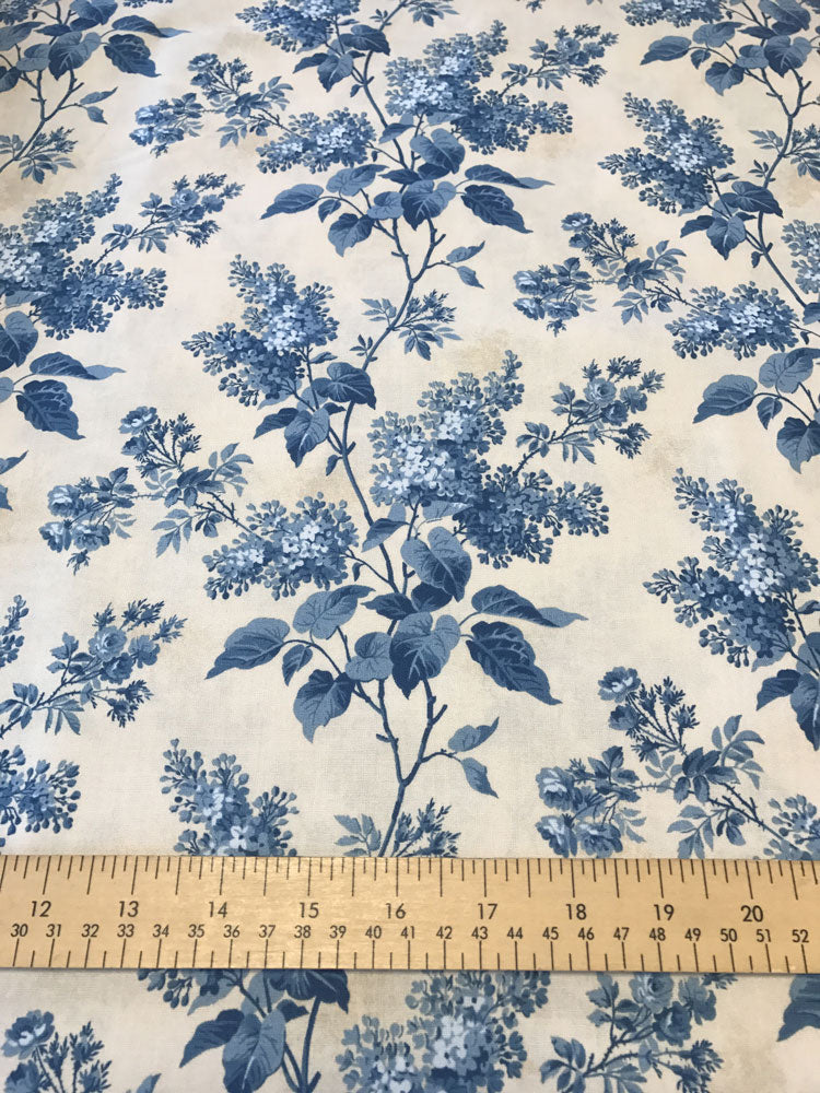 Blue Sky - Large Blossom Trail - Cream - Craftyangel