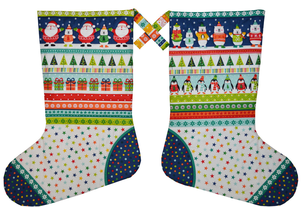 Xmas stockings (makes 2 Large) - Novelty Xmas - panel