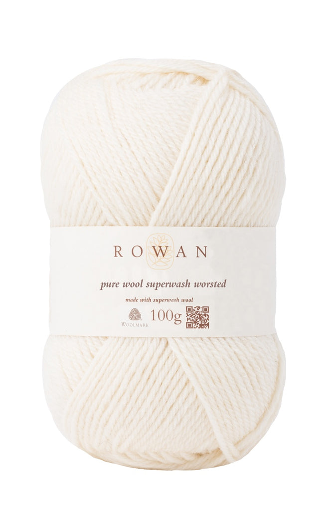Rowan Pure Wool Worsted - Soft Cream (102) - Craftyangel