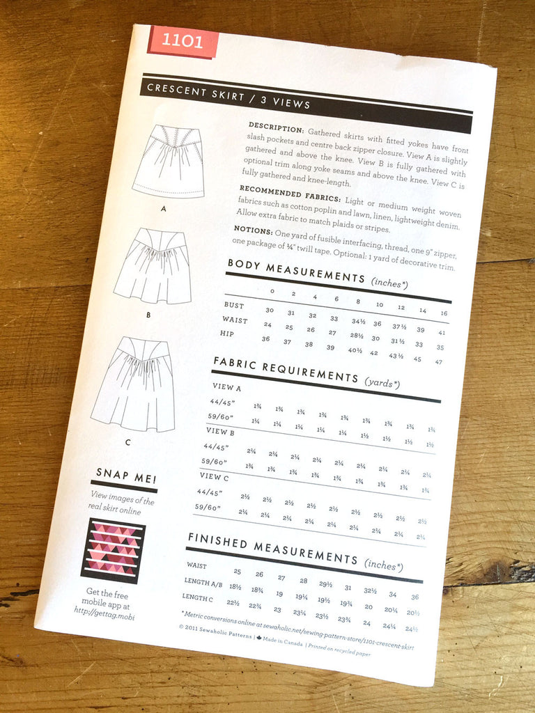 Sewaholic Patterns - Crescent - Skirt
