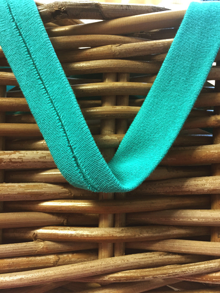Double fold knit/tricot binding - Light Turquoise - Craftyangel