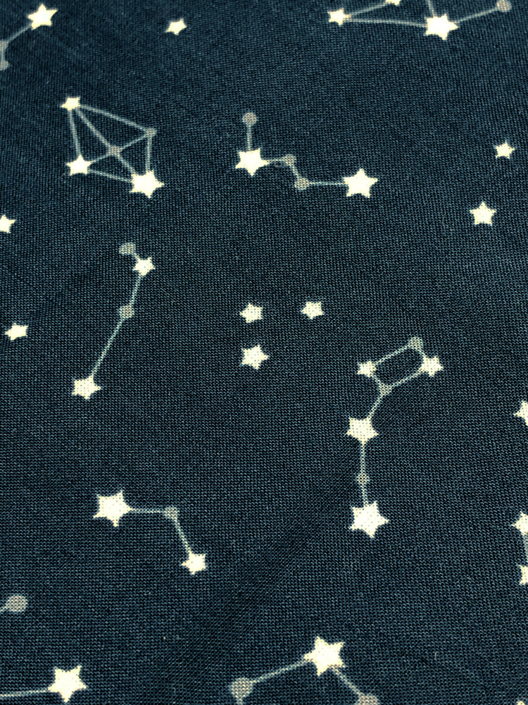 Art Gallery - Enchanted Voyage - Night Sky - Rayon - Navy - Craftyangel