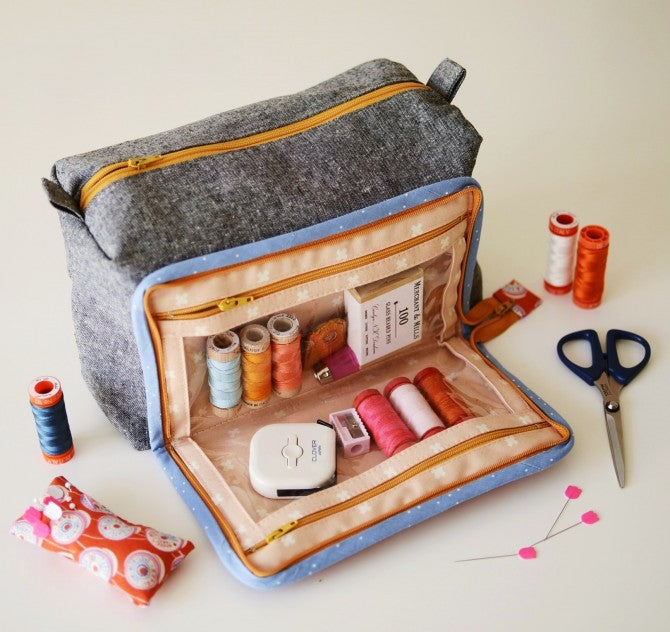 All in One Box Pouch by Aneela Hoey - Craftyangel