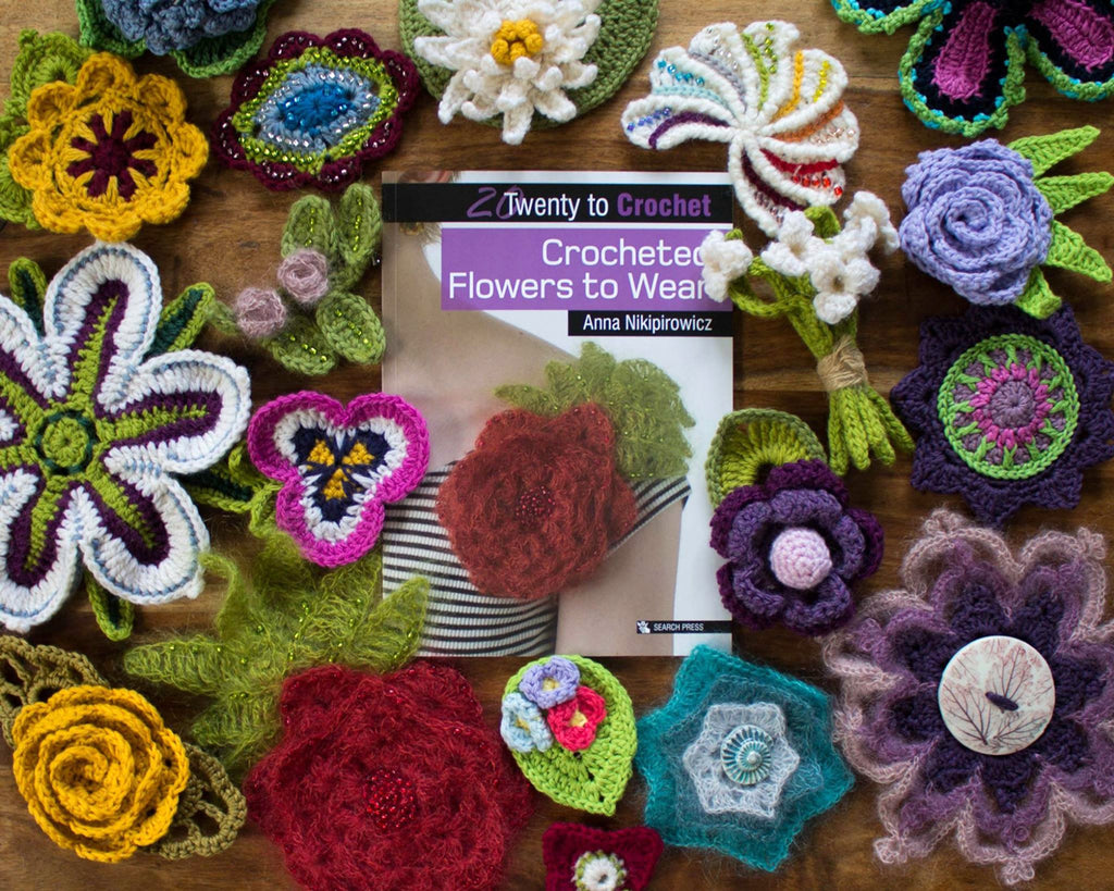 (20) Twenty to Crochet Book: Crocheted Flowers to Wear - Craftyangel