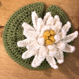 Crocheted Flowers to Wear - Kit 3 - Lilly, Sorrel and Snowdrop flowers - Craftyangel