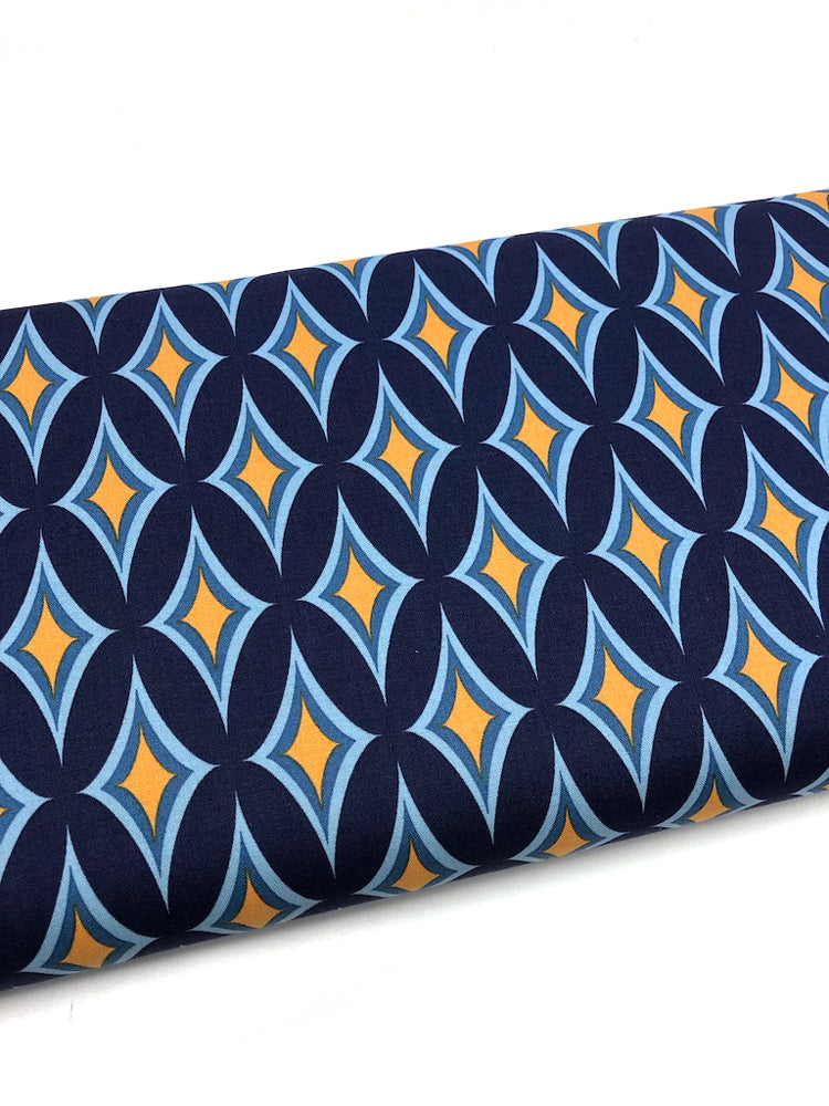 Nordic Garden Dream - Blomstereng - Blue (geometric) - Craftyangel