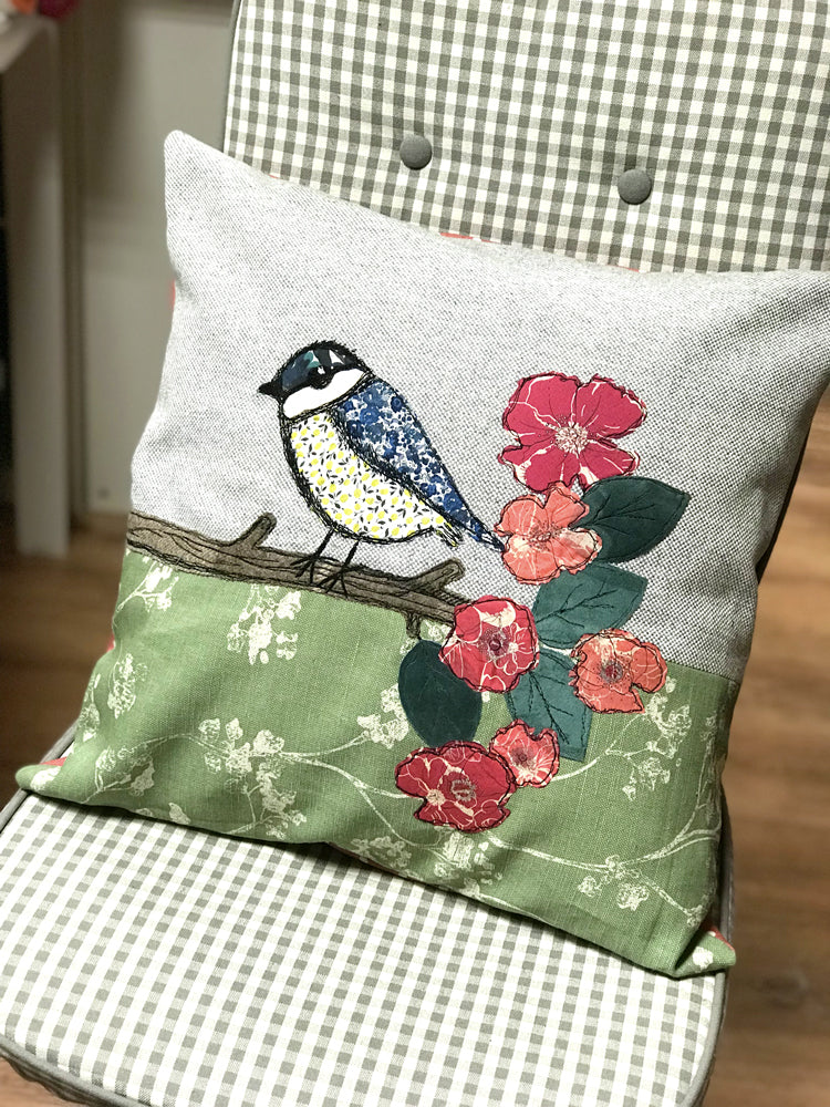 1 space left - Free Motion Embroidery and Cushion Making workshop - with Sam Molloy [Sat 27th April 10.00am-4.30pm] - Craftyangel