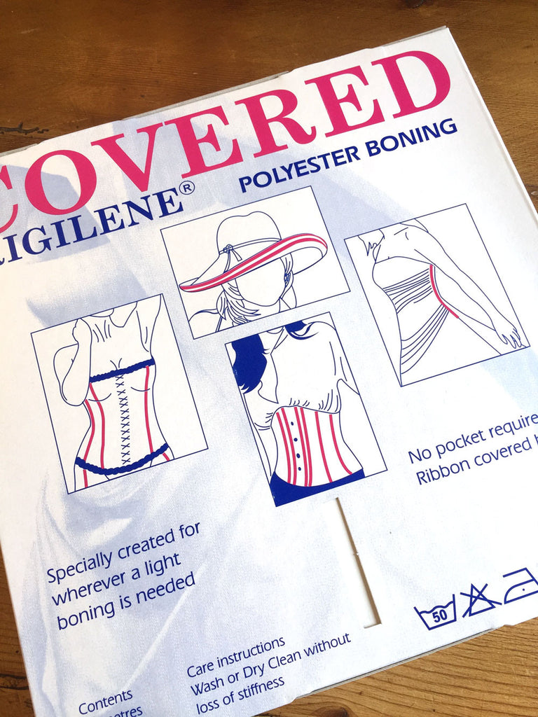 Rigilene Covered Polyester Boning 15mm - White