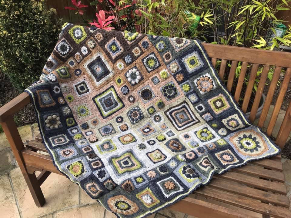 3 spaces left - Homage to Granny Square  with Sue Maton [6 part course Oct/Nov/Dec/Jan/Feb/Mar 1.30pm - 4.30pm] - Craftyangel