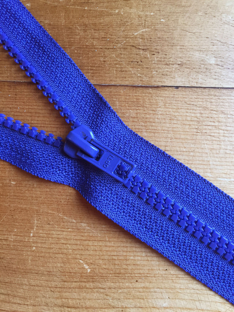 "Nylon Chunky Open Ended Zip - 14""/36cm - Royal Blue - Craftyangel"