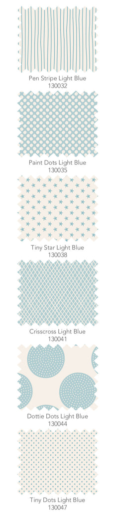 Tilda Classic Basics 6 x Fat Quarter Bundle - Soft Blue - Craftyangel