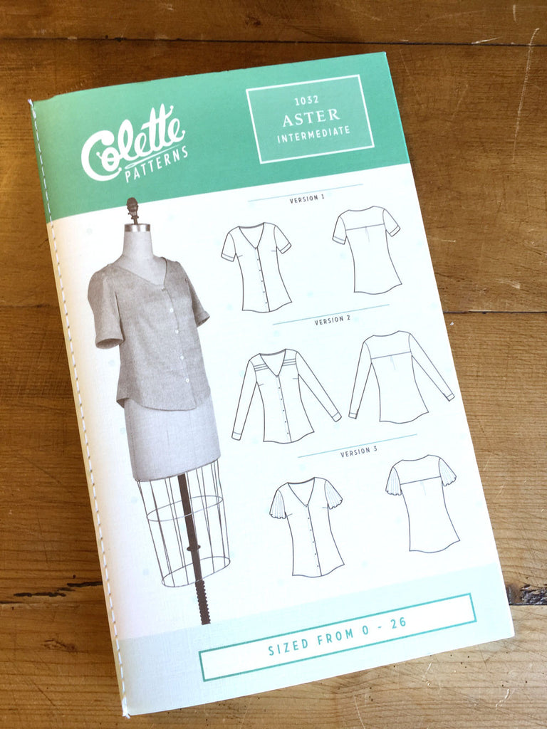 Colette Patterns - Aster - Blouse - Craftyangel