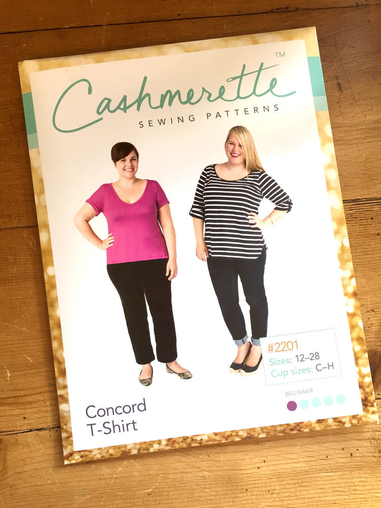 Cashmerette - Concord T-Shirt - Knit fabric - Craftyangel