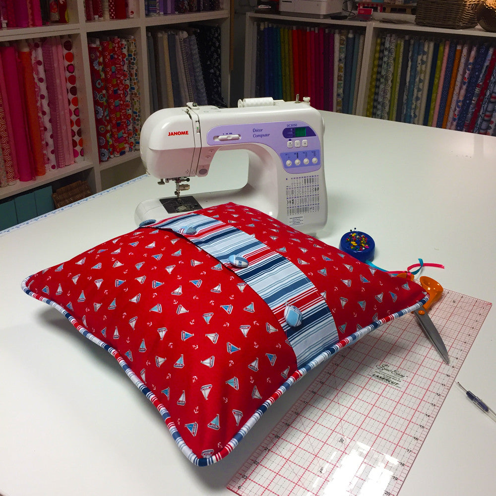 SOLD OUT - Button back piped cushion workshop - [Sun 2nd April 11.00-4.00pm]