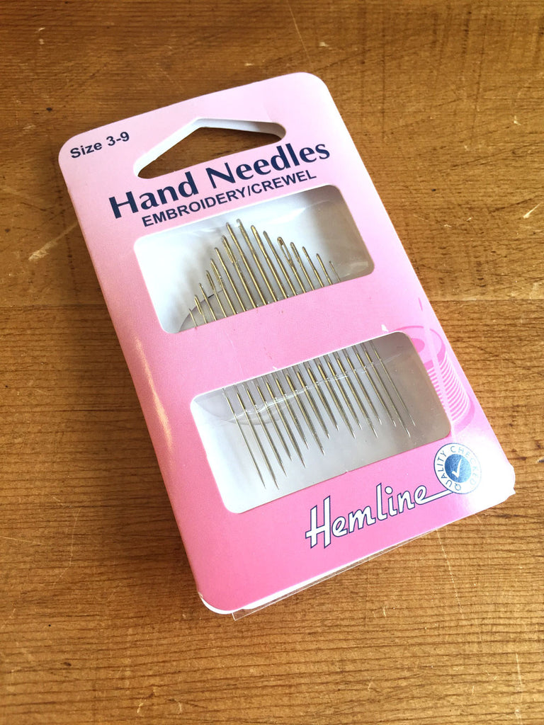 Hand Needle - Embroidery/Crewel size 3-9