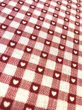 Hearts - Scandi Check basics - Red - Craftyangel