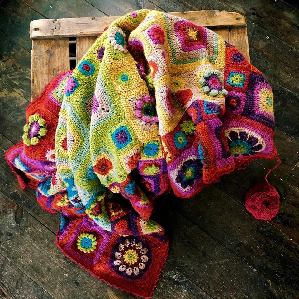 1 space left - Homage to   Granny Square  with Sue Maton [4 part course Jan/Feb/Mar/April 10am-2.30pm] - Craftyangel