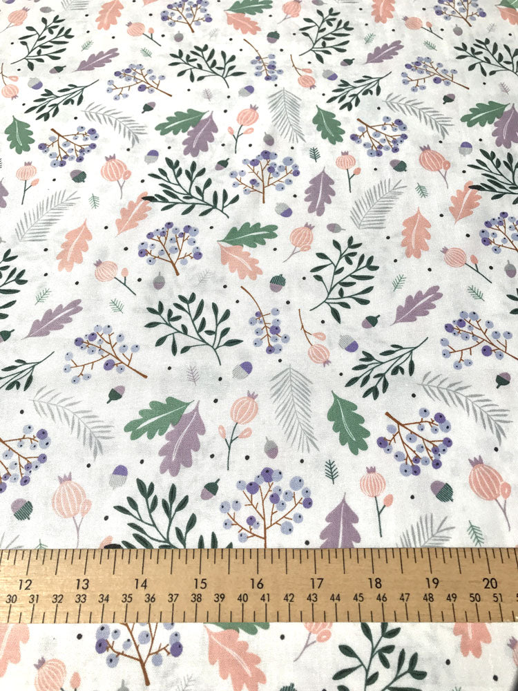 Forest Talk - Pine - Cream and Lilac - Craftyangel